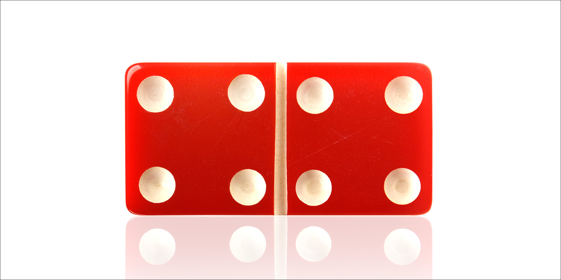 Red Domino Tile